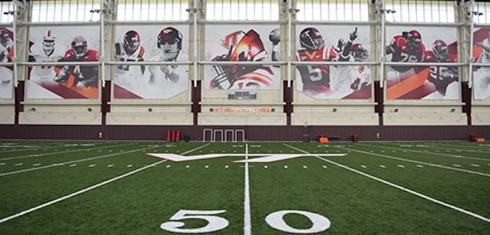 Virginia Tech has previewed its newly completed Indoor Athletic Training Facility
