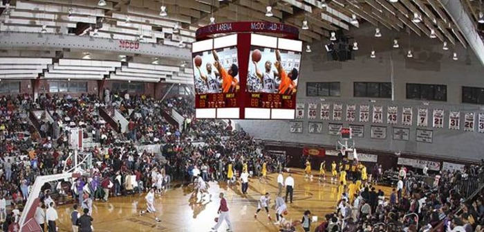 North Carolina Central University opts for four-sided centerhung Daktronics display