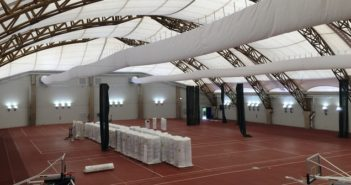 John J Dillon Field House renovations upgraded with Birdair Tensotherm membrane