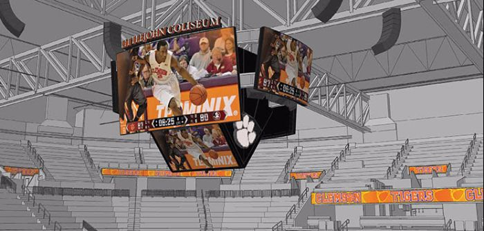 Clemson display system from Daktronics