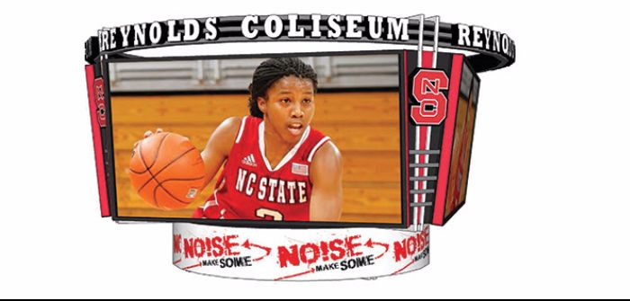 NC State Daktronics centerhung video system