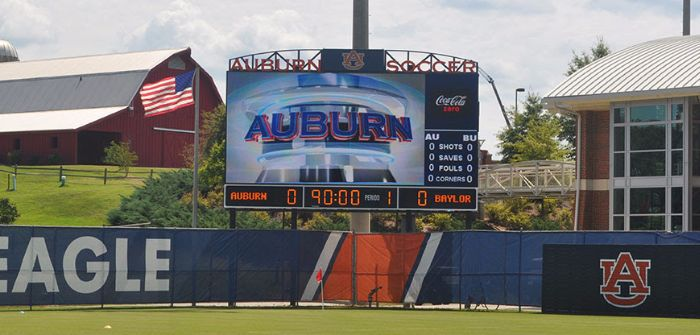Auburn video display installations