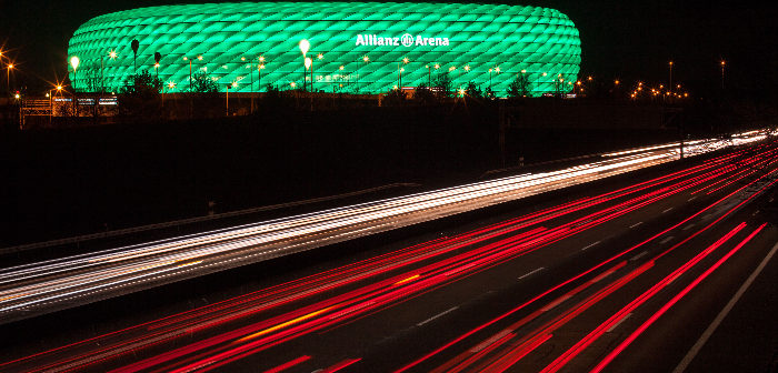 Allianz Arena lighting