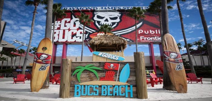 Buccaneers bring the beach to Raymond James Stadium ...