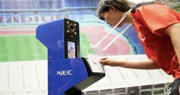Tokyo 2020 biometric security