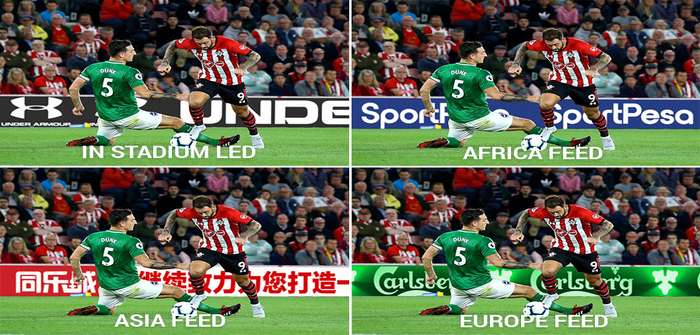 Southampton FC virtual advertising displays