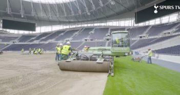 Tottenham Hotspur lays new pitch CREDIT Spurs TV