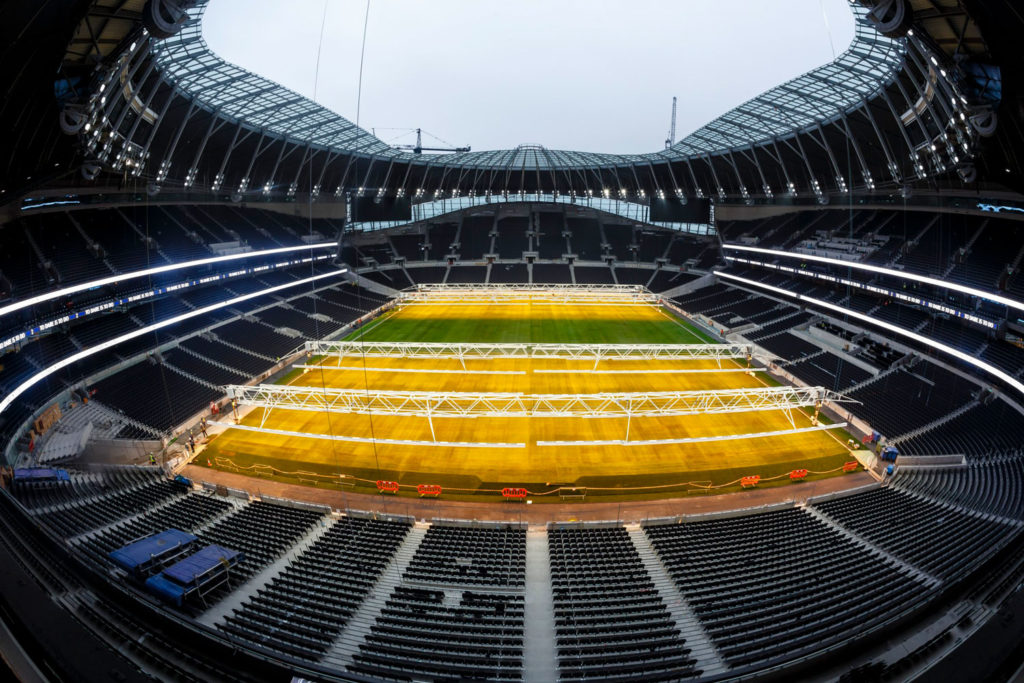 Tottenham Hotspur Stadium introduces world-first integrated pitch grow light