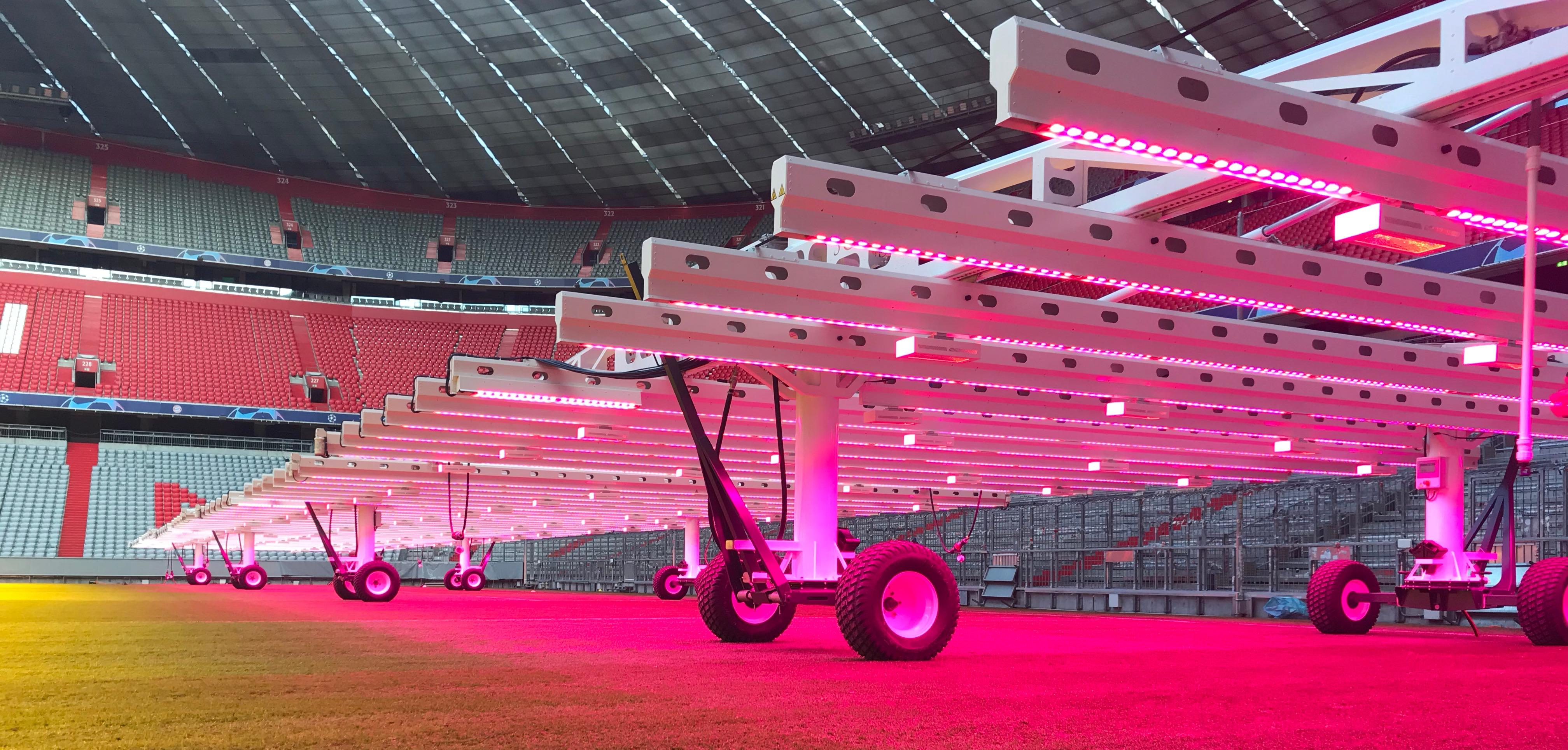 Allianz Arena LED lights
