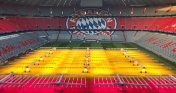 Allianz Arena LED lights