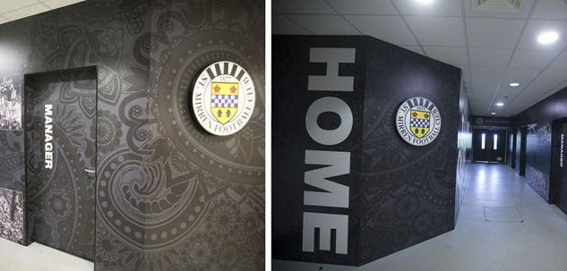 St Mirren FC player tunnel