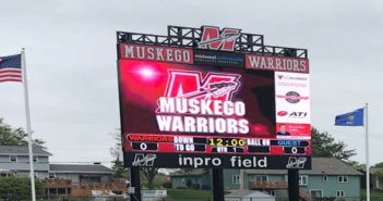 Daktronics installs Wisconsin's largest high school football field video display