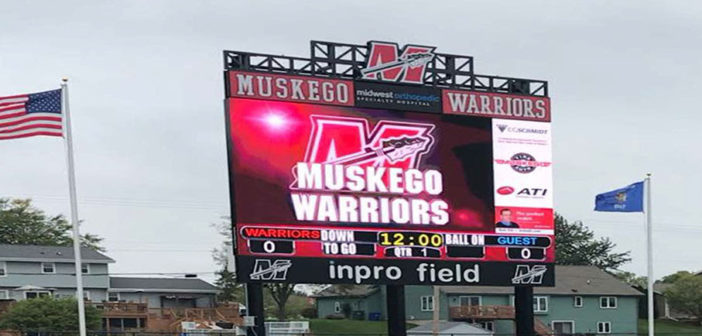 Daktronics installs Wisconsin's largest high school football field video display