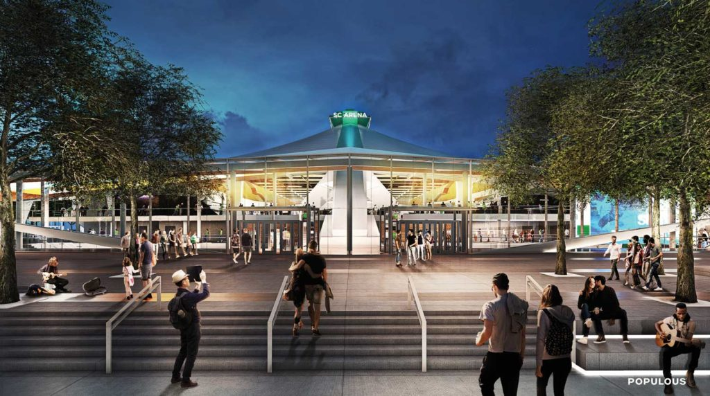 Seattle's KeyArena breaks ground and announces new NHL team