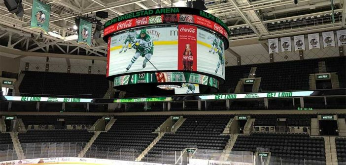 Ralph Engelstad Arena to install biggest center-hung display in college hockey