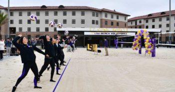 LSU opens new beach volleyball stadium