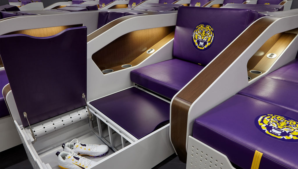 LSU locker room