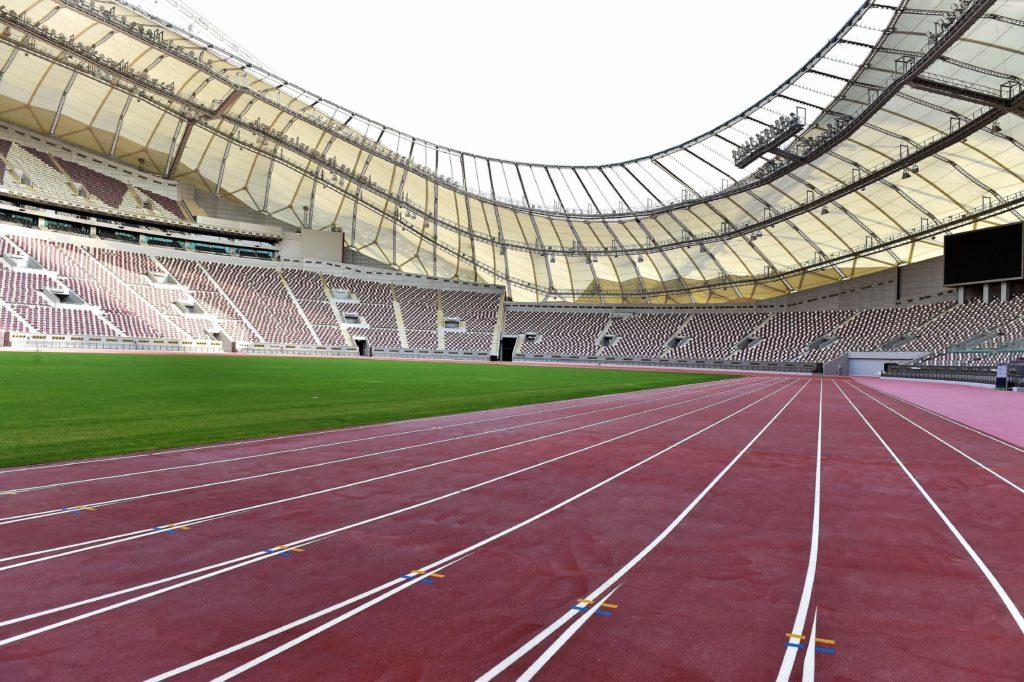 Khalifa Stadium track